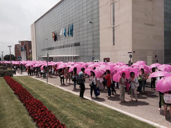 Marea rosa en Madrid